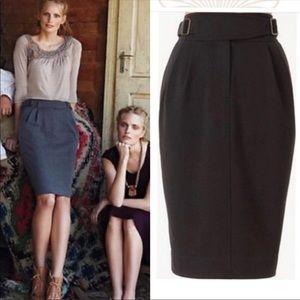 Maeve Cinched Ponte Pencil Black skirt (D68)
